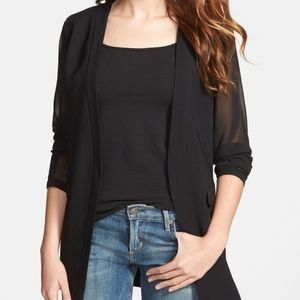 Robbi and Nikki Sheer Sleeve Blazer